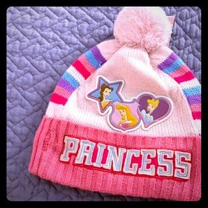 Disney girls  princess pom Pom hat